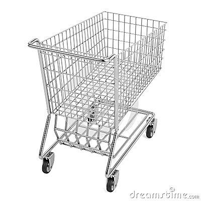 3d render of shopping cart