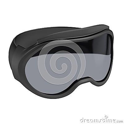 3d render of ski glasses