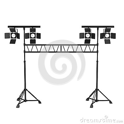 3d render of stage light