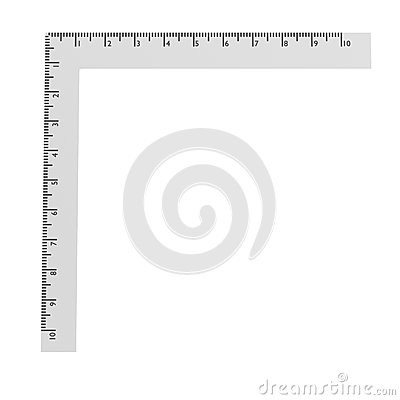 3d render of stationery tool - ruler