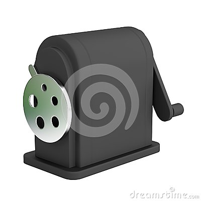 3d render of stationery tool - sharpener