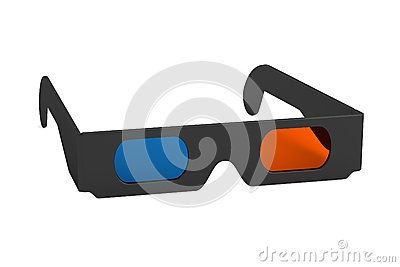 3d render of stereoscopic glasses