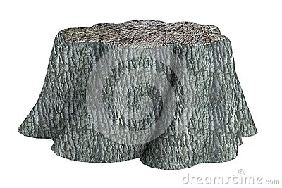 3d render of stump
