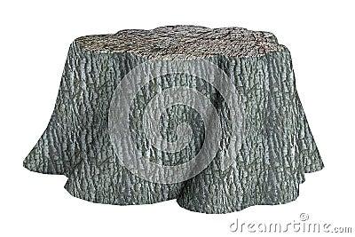 3d render of stump