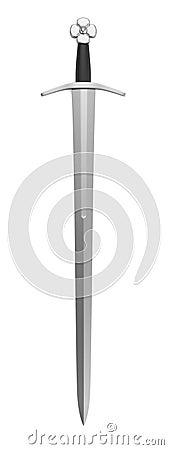 3d render of sword