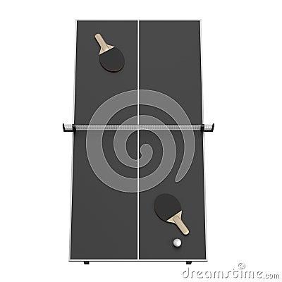 3d render of table tennis