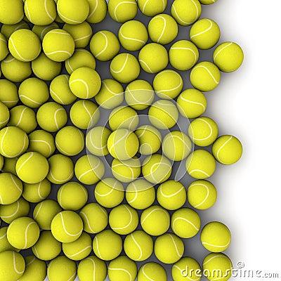 Tennis balls spill