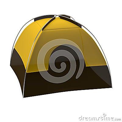 3d render of tent