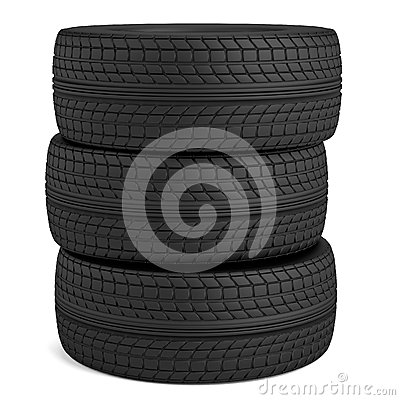 3d render of tire