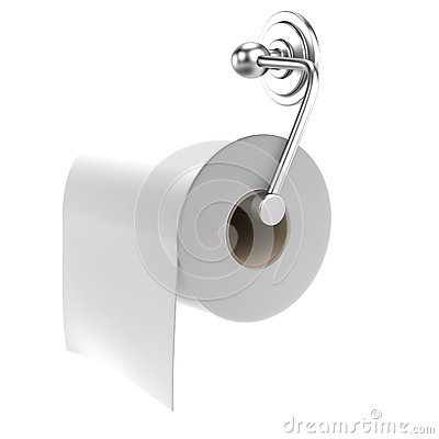 3d render of toilet holder