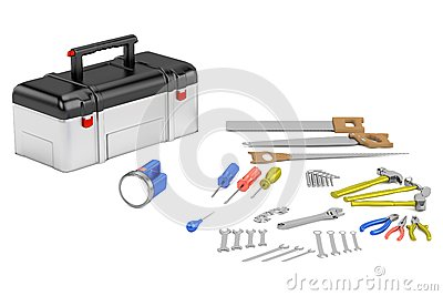 3d render of tools
