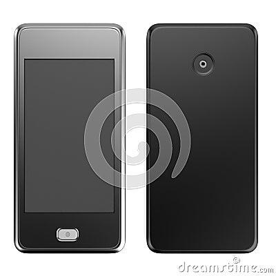 3d render of touchphone