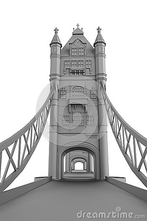 3d render of tower bridge model