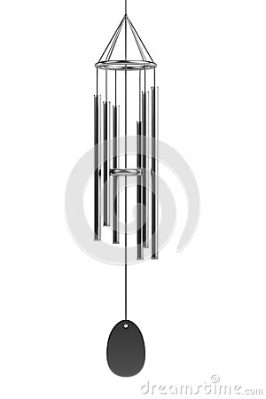 3d render of wind chimes