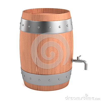 3d render of wine barrel Stock Photo