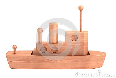 3d render of wooden toy