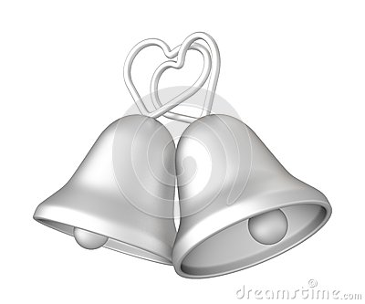 3d Silver Wedding Bells Royalty Free Stock Image Image