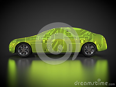 3D rendering: abstract car and carbody Stock Photo
