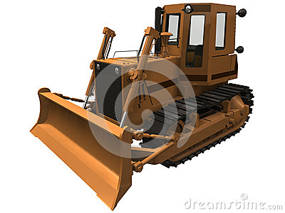 3d Rendering of a Bulldozer