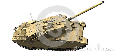 3d Rendering of a Challenger Tank