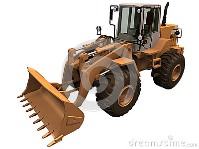 3d Rendering of a Construction Loader