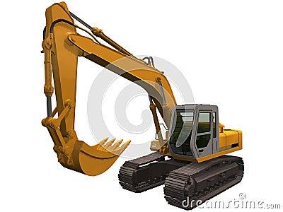 3d Rendering of a Excavator