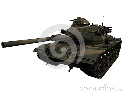 3d Rendering of a M60 Patton Tank