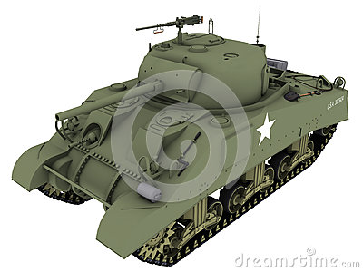 3d Rendering of a M4A4 Sherman Tank
