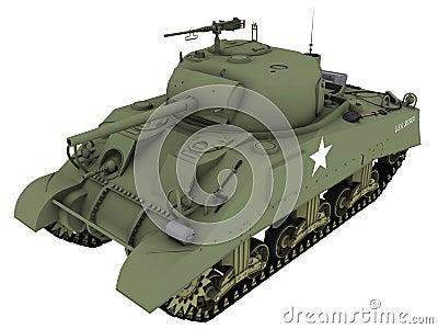 3d Rendering of a M4A4 Sherman Tank