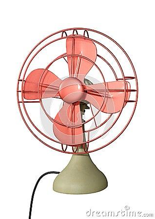 3D Rendering Desk Fan on White Stock Photo