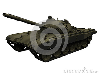 3d Rendering of a Russian/Soviet T72 Tank