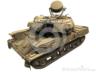 3d Rendering of a Russian/Soviet ZSU23
