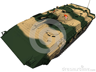 3d Rendering of a Soviet BMP-1