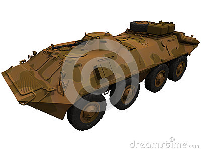 3d rendering of a Soviet BTR 70