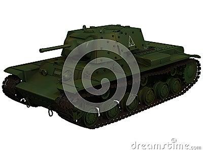 3d Rendering of a Soviet KV1B Tank