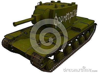 3d Rendering of a Soviet KV2 Kliment Voroshilov 2 tank