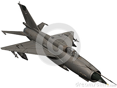 3d Rendering of a Soviet Mig 21 Fishbed