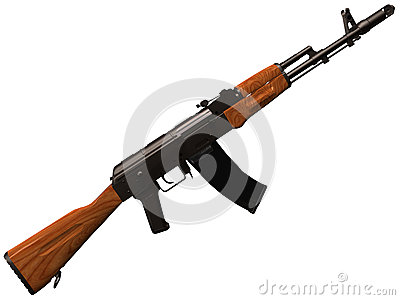 3d Rendering of a Soviet/Russian AK74