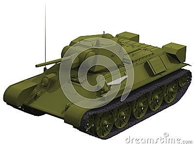 3d Rendering of a Soviet T-34 Tank