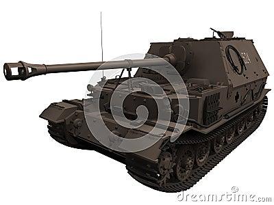 3d Rendering of a World War 2 era Elefant Tank