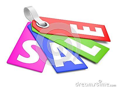 3d Sale tags