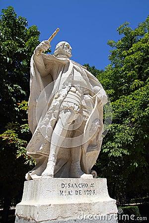 D Sancho 4 statue in Madrid at Retiro park