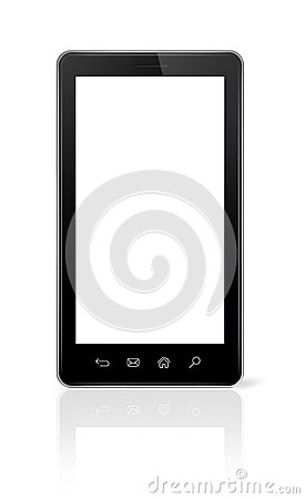 3D smartphone  on white