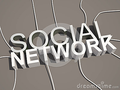 3d social network text concept