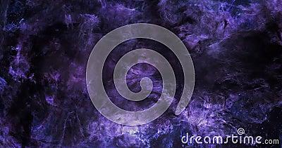 3D Space Flight Around Massive Purple Nebula Loop stock video footage