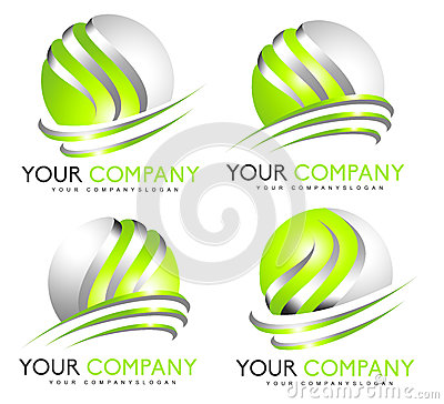 3D Sphere Logo Cartoon Illustration