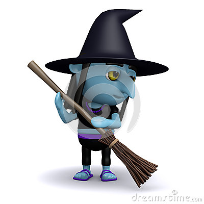 3d Spring clean witch