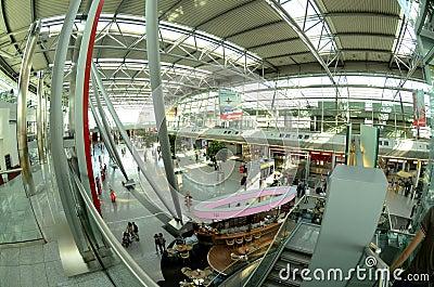 Düsseldorf airport - Departures hall Editorial Photo