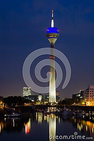Düsseldorf Media Harbor at Night