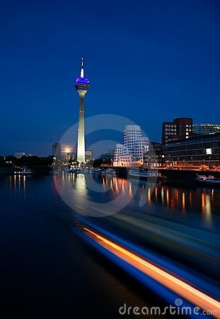 Düsseldorf At Night